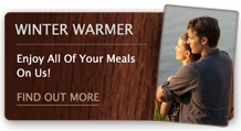 Warm up this winter with our Winter Warmer package and enjoy all meals on us.