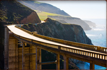 Crossing the Bixby Bridge in Big Sur