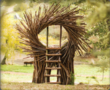 The Nest sculpture at Post Ranch Inn