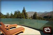 Mountain views from the private deck of the Peak House