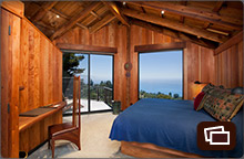 South Coast House 2nd Floor Master bedroom with private deck