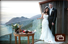 newly wed couple at a Cliff House
